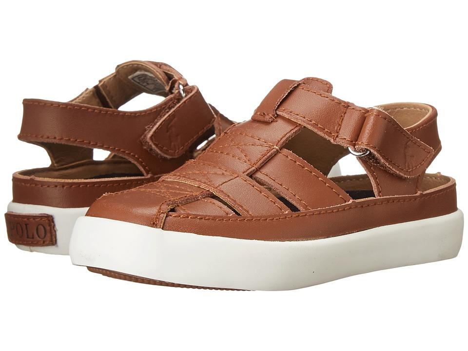 Polo Ralph Lauren Kids - Sander Fisherman II (Toddler) (Tan Leather) Kids Shoes