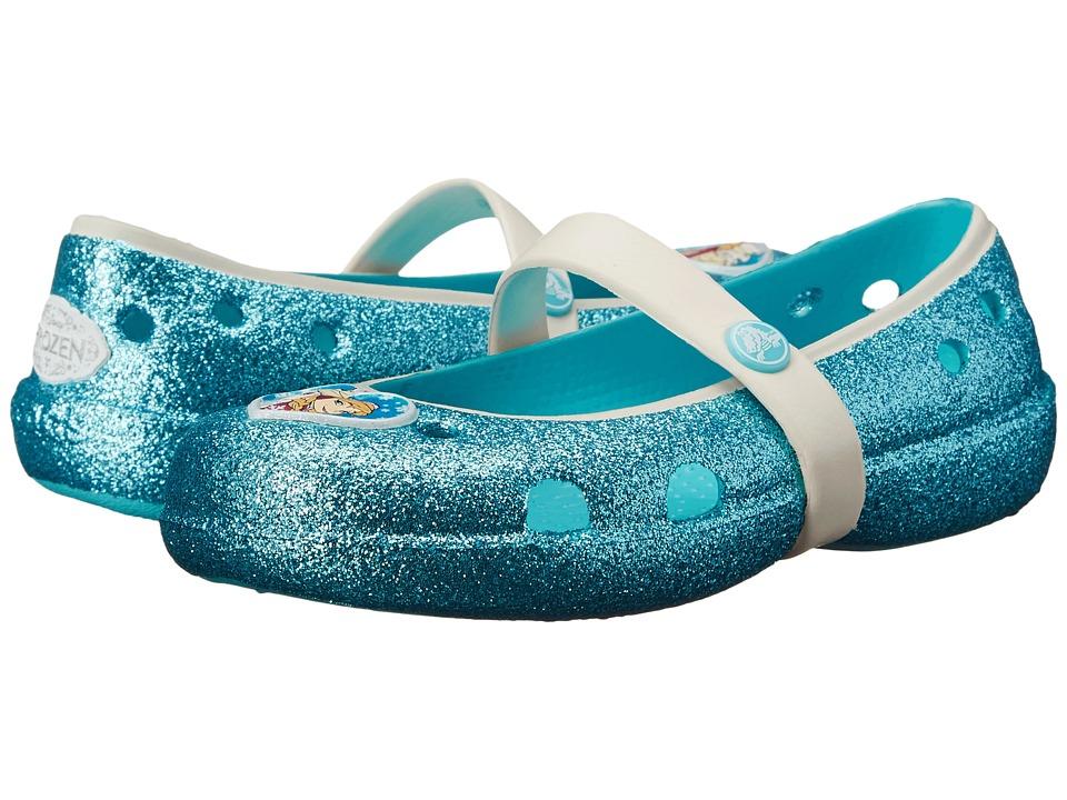 Crocs Kids Keeley Frozen Flat Pool Girls Shoes