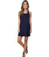 Tommy Bahama - Pearl Solids Ruffled Tank Dress w/ Pockets Cover-Up