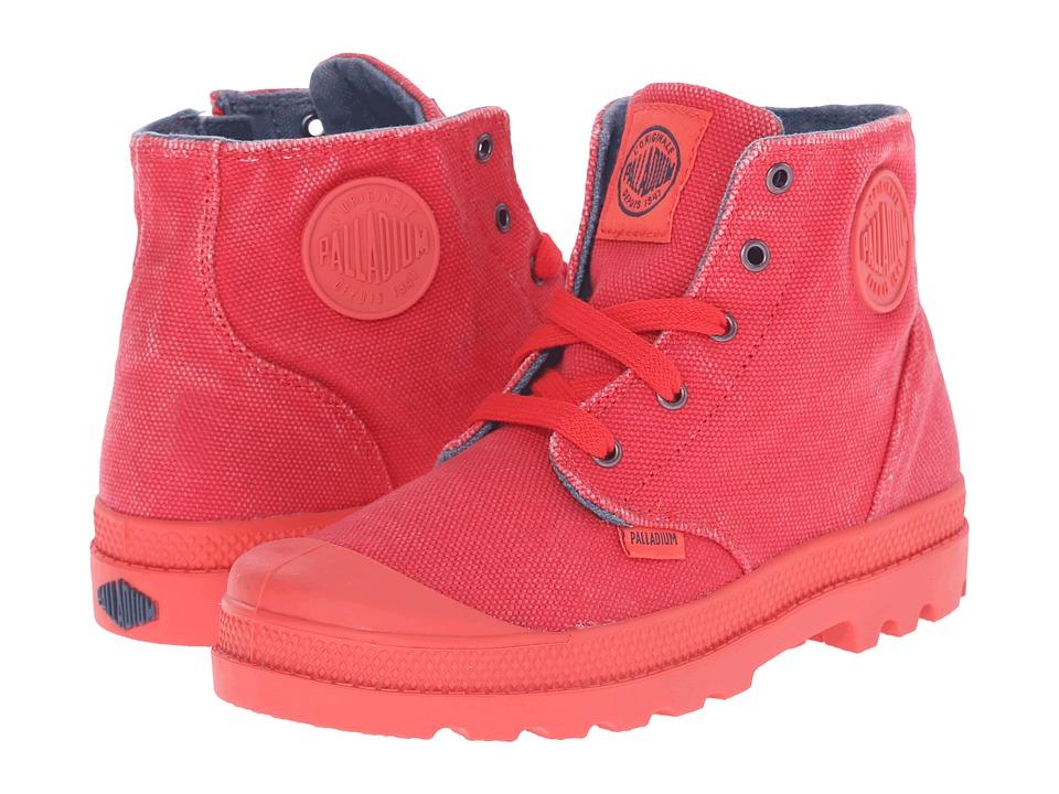 Palladium Kids Pampa Hi Zipper Little Kid Cayenne Red/Orion Blue Kids Shoes