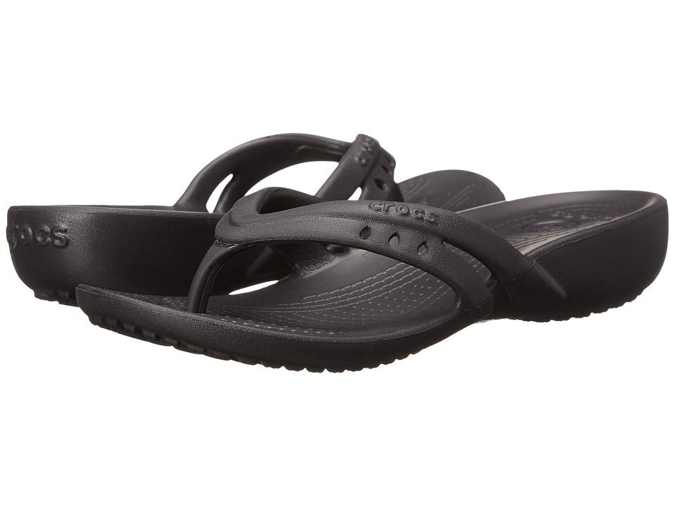 Crocs Kids Kadee Flip Wedge Little Kid/Big Kid Black Girls Shoes