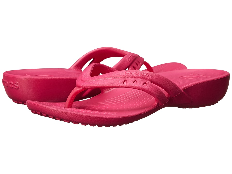 Crocs Kids Kadee Flip Wedge Little Kid/Big Kid Candy Pink Girls Shoes