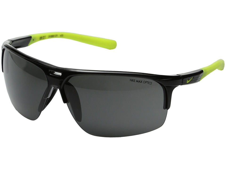 Nike Run X2 Matte Black/Black Sport Sunglasses