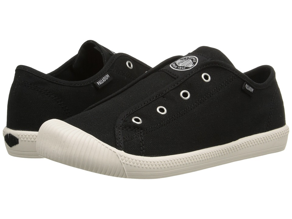 Palladium Kids Flex Slip On TO Little Kid Black/Marshmallow Kids Shoes