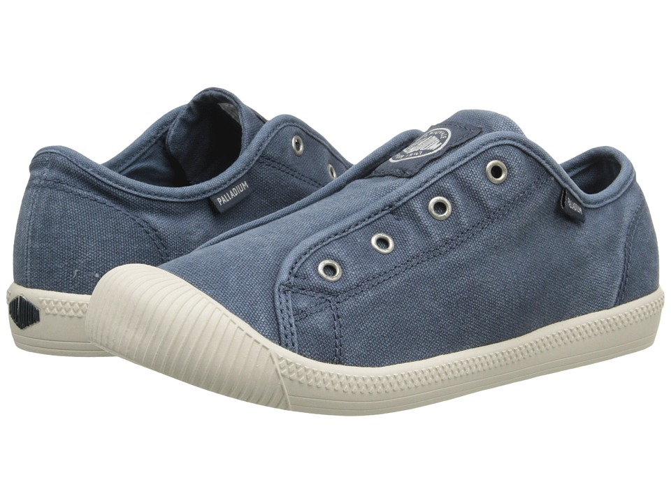Palladium Kids Flex Slip On TO Little Kid Blue/Marshmallow Kids Shoes