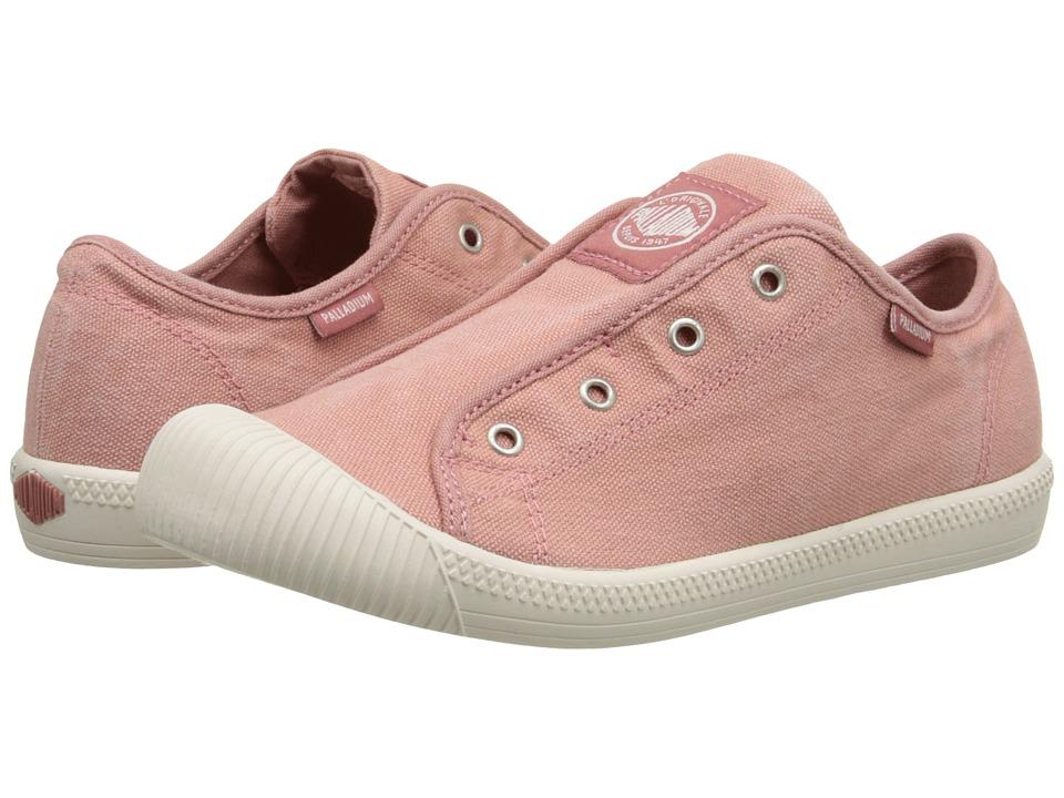 Palladium Kids Flex Slip On TO Little Kid Old Rose/Marshmellow Girls Shoes