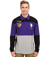 U.S. POLO ASSN. - Jersey Color Block Rugby Polo