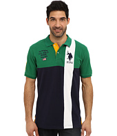 U.S. POLO ASSN. - Short Sleeve Cotton Pique Color Block Polo