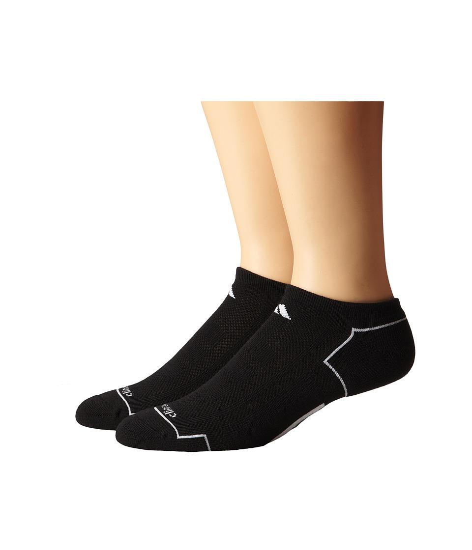adidas Climacool II 2 Pair No Show Sock Black/White/Medium Lead Mens No Show Socks Shoes