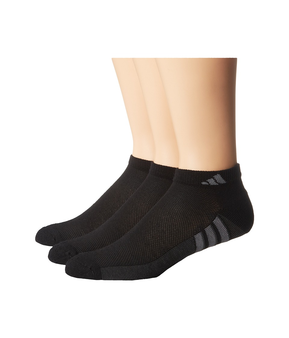 adidas - Climacool Superlite 3-Pair Low Cut Sock (Black/Graphite/Medium Lead) Men