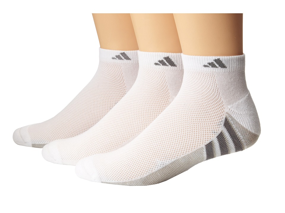 adidas - Climacool Superlite 3-Pair Low Cut Sock (White/Light Onix/Medium Lead) Men