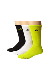 adidas - Cushioned 3-Stripe 3-Pair Color Crew Sock