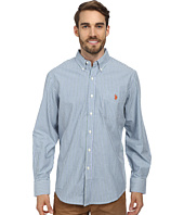 U.S. POLO ASSN. - Long Sleeve Button-Down Striped Shirt w/ Logo on Pocket