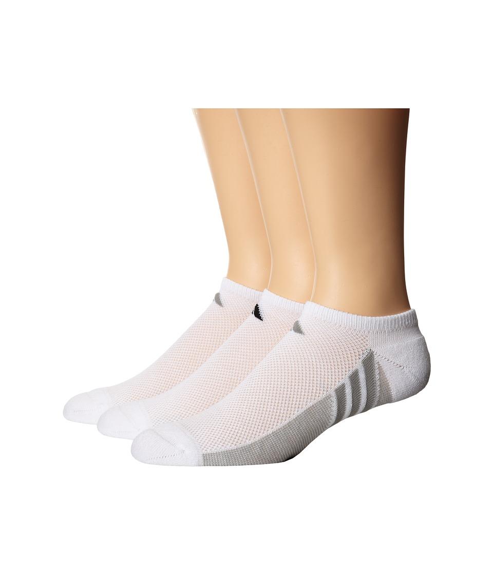 adidas Climacool Superlite 3 Pair No Show Sock White/Light Onix/White/Black/Light Onix/White/Light Onix Womens No Show Socks Shoes