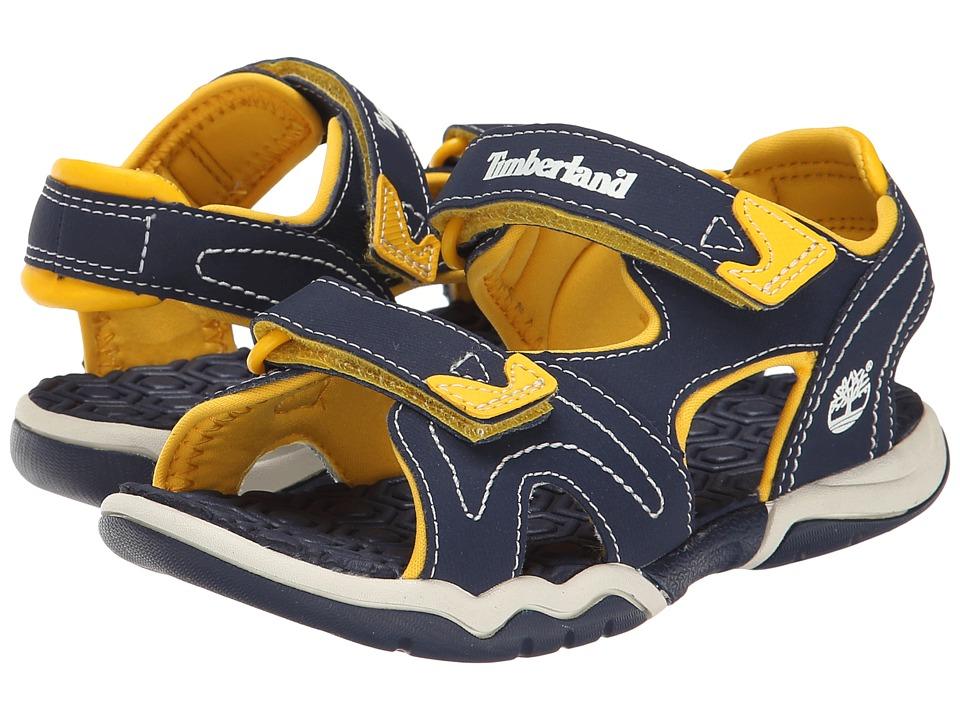 Timberland Kids Adventure Seeker 2 Strap Sandal Little Kid Navy/Yellow Kids Shoes
