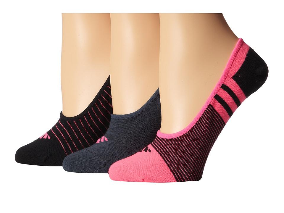 adidas Superlight 3 Pair Super No Show Solar Pink/Black/Bold Onix Womens No Show Socks Shoes