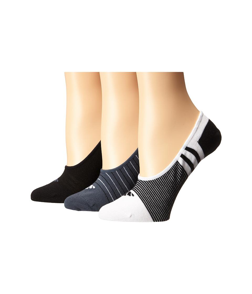adidas Superlight 3 Pair Super No Show White/Black/Bold Onix Womens No Show Socks Shoes