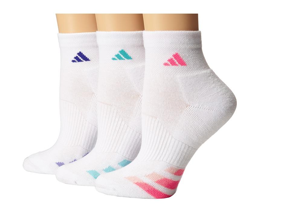 adidas - Cushion Variegated 3-Pair Quarter Sock