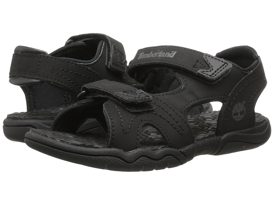 Timberland Kids - Adventure Seeker 2-Strap Sandal (Little Kid) (Blackout) Boys Shoes