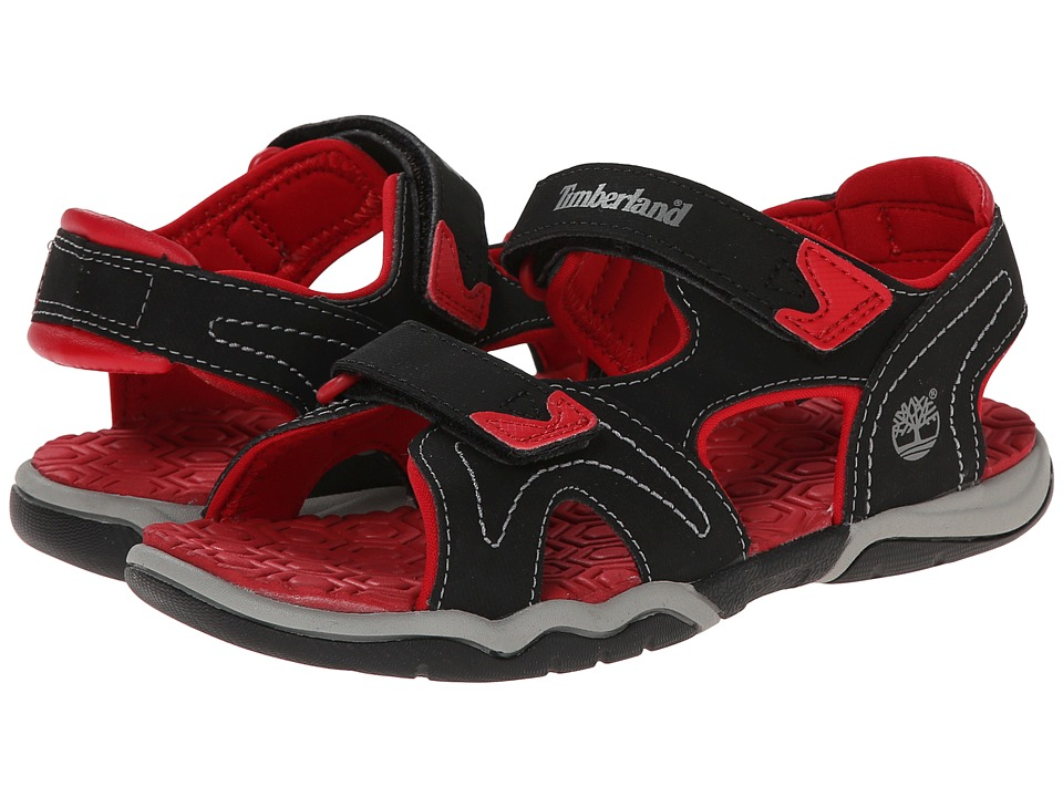 Timberland Kids - Adventure Seeker 2-Strap Sandal (Little Kid) (Black/Red) Boys Shoes