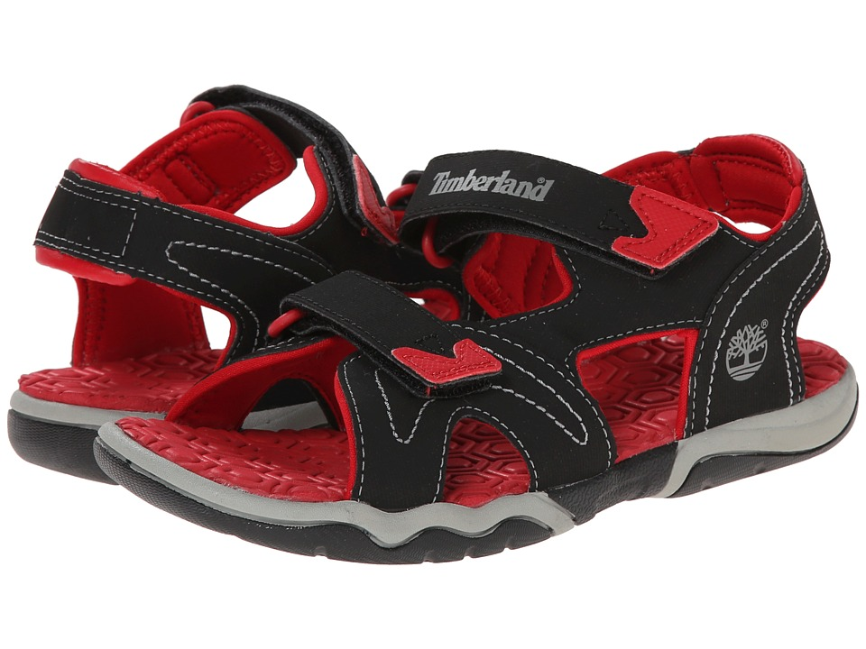 Timberland Kids - Adventure Seeker 2-Strap Sandal (Big Kid) (Black/Red) Boys Shoes