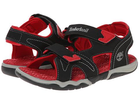 Timberland Kids Adventure Seeker 2-Strap Sandal (Big Kid) - Black/Red