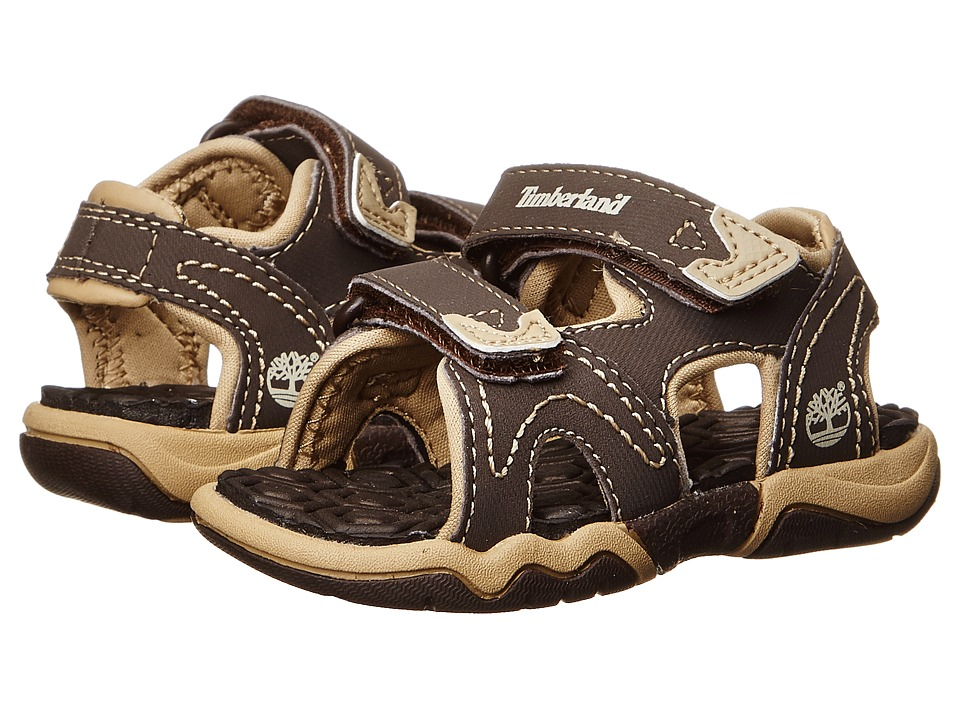 Timberland Kids - Adventure Seeker 2-Strap Sandal (Toddler/Little Kid) (Brown/Tan) Boys Shoes