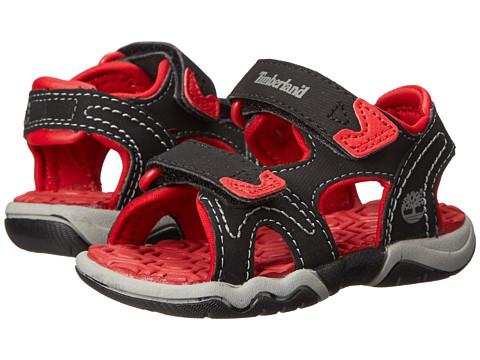 Timberland Kids Adventure Seeker 2-Strap Sandal (Toddler/Little Kid) - Black/Red