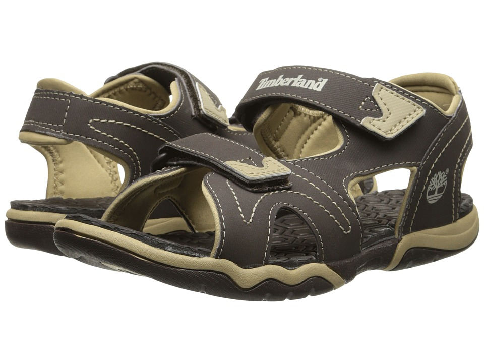 Timberland Kids - Adventure Seeker 2-Strap Sandal (Big Kid) (Brown/Tan) Boys Shoes