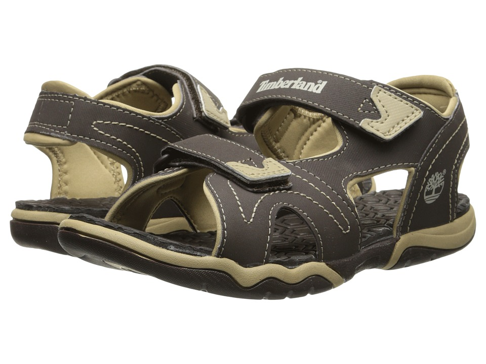 Timberland Kids - Adventure Seeker 2-Strap Sandal (Little Kid) (Brown/Tan) Boys Shoes
