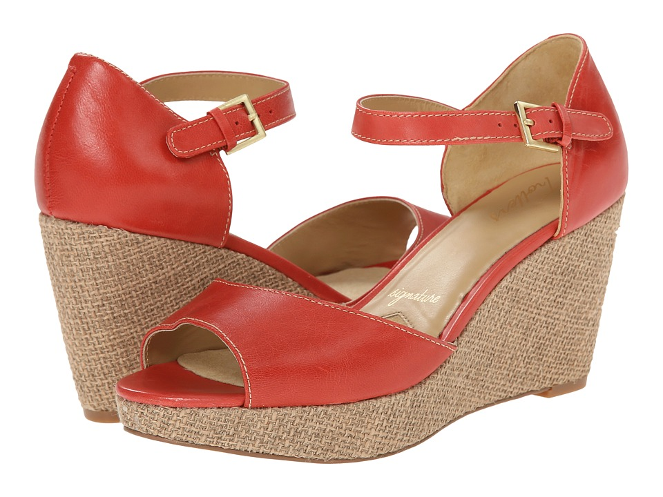 Trotters - Amber (Red Soft Dull Leather) Women's Wedge Shoes