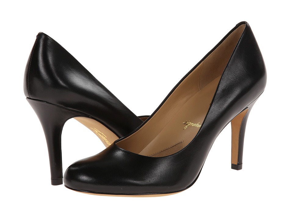 Trotters - Gigi (Black Glazed Kid Leather) High Heels