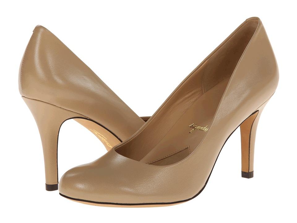 Trotters - Gigi (Nude Glazed Kid Leather) High Heels