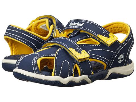 Timberland Kids Adventure Seeker Closed Toe Sandal (Toddler/Little Kid) - Navy/Yellow