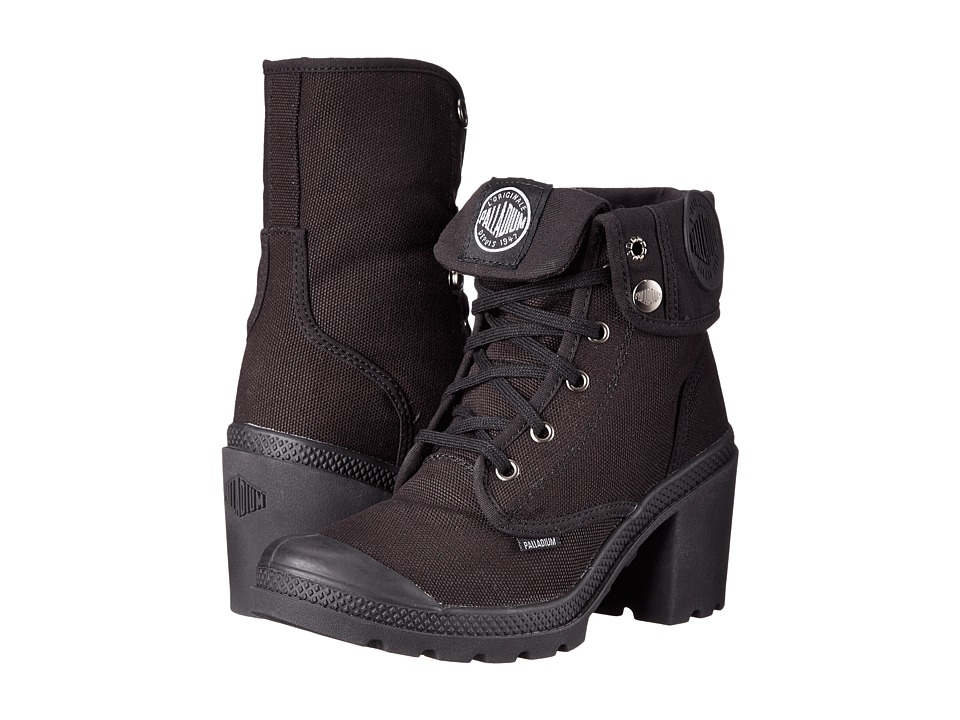 Palladium Baggy Heel Black/High Rise Womens Lace up Boots