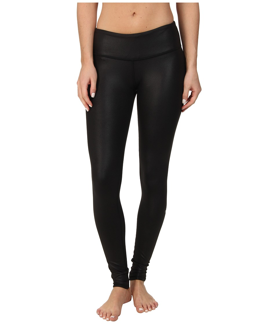 ALO Airbrushed Legging Black Glossy Womens Workout