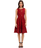 ABS Allen Schwartz - Lace Overlay Fit and Flare with Opera Length Skirt