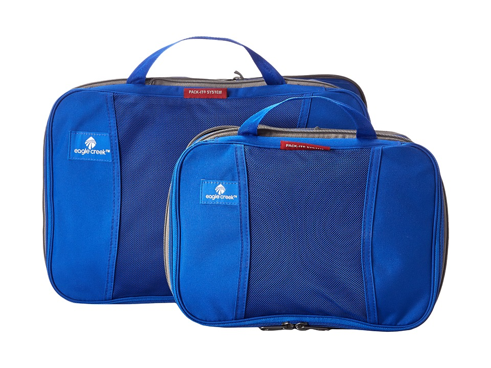 Eagle Creek - Pack-It Compression Cube Set (Blue Sea) Bags
