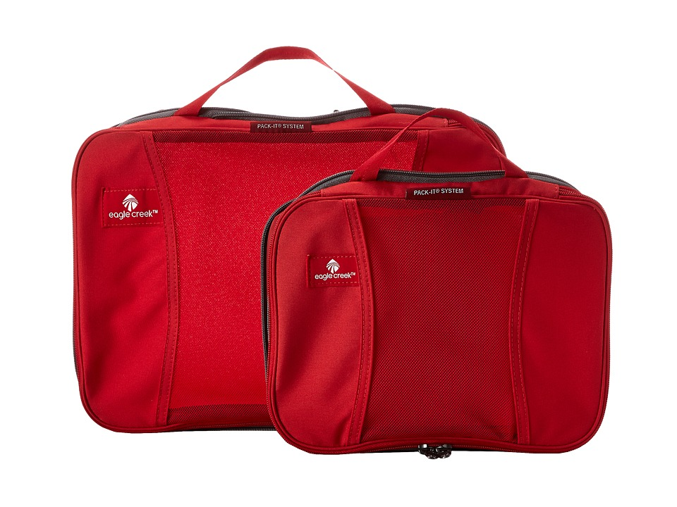 Eagle Creek - Pack-It Compression Cube Set (Red Fire) Bags