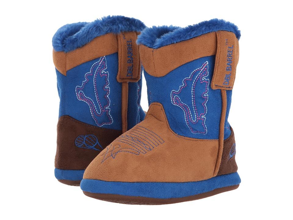 Blazin Roxx Cowboy Bootie Slipper (Toddler/Little Kid/Big Kid) (Tan/Blue) Boys Shoes