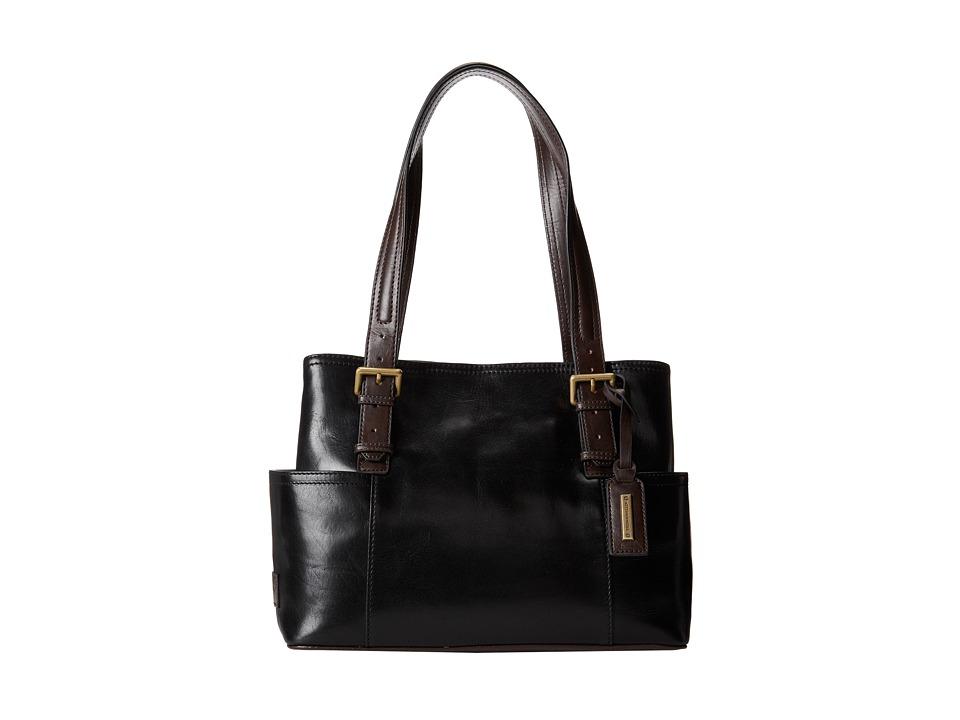 Tignanello Classic Beauty Shopper Solid (Black/Brown) Tote Handbags