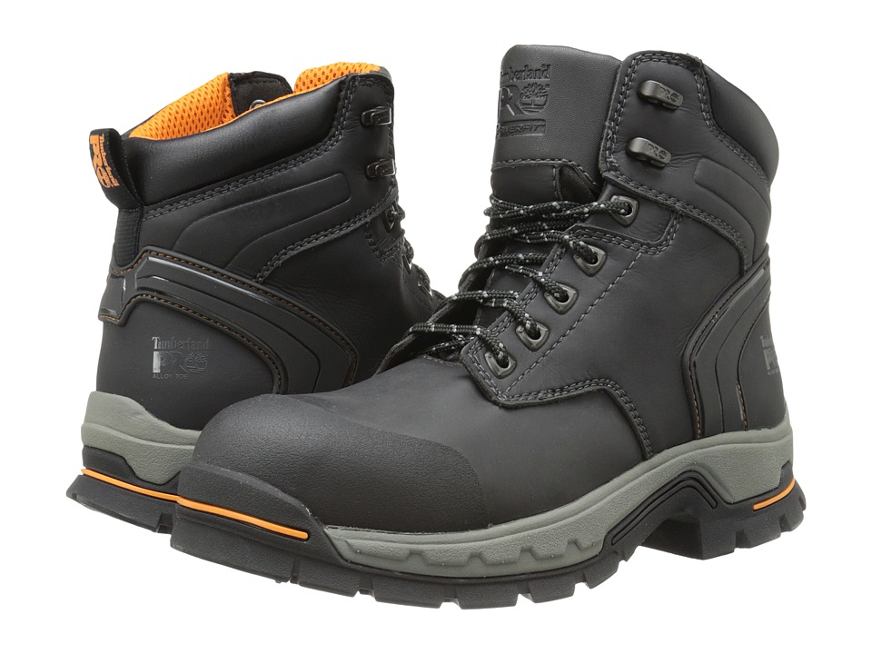 Timberland PRO - 6 Stockdale Alloy Safety Toe (Black Micofiber) Mens Work Boots