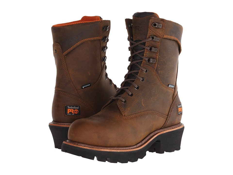 Timberland PRO 9 Rip Saw Logger Steel Toe WP (Brown) Men