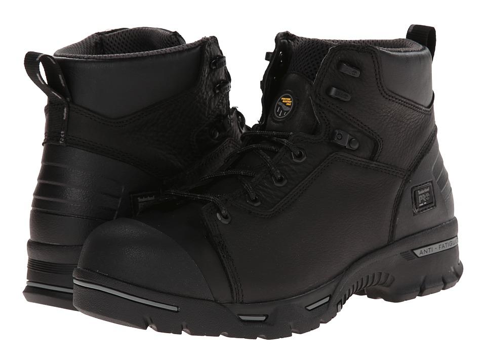 Timberland PRO - 6 Endurance Steel Toe (Black Full Grain) Mens Work Boots