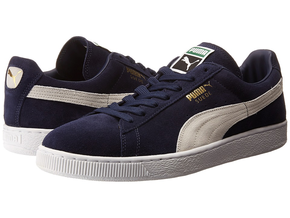 PUMA - Suede Classic+ (Peacoat/White) Mens Shoes