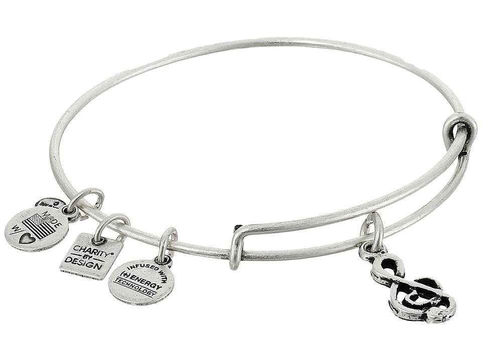 Alex and Ani - Sweet Melody Charm Bangle (Rafaelian Silver Finish) Bracelet