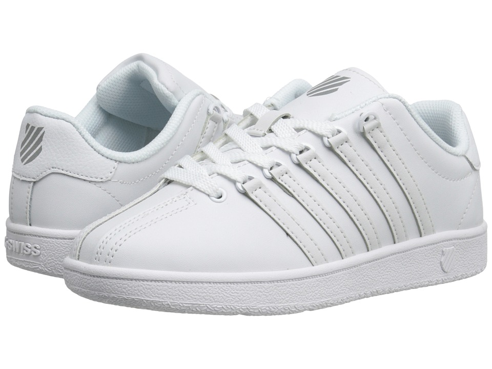 K Swiss Kids Classic VN Big Kid White/White Kids Shoes