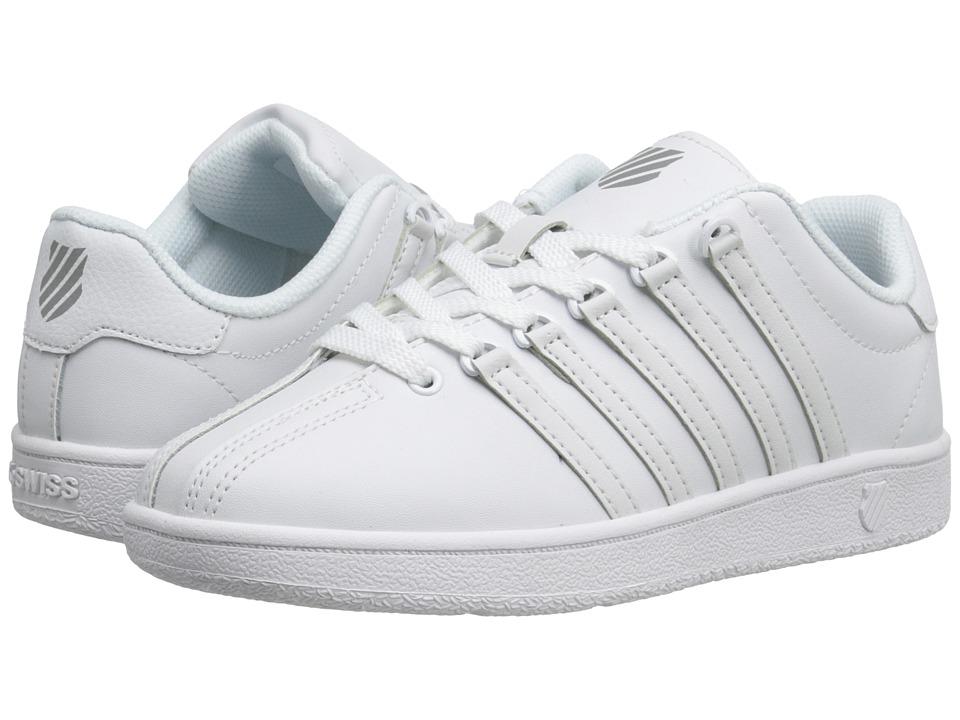 K-Swiss Kids Classic VNtm (Big Kid) (White/White) Kids Shoes