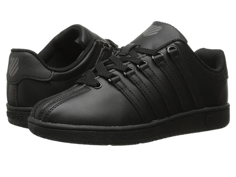 K-Swiss Kids Classic VNtm (Little Kid) (Black/Black) Kids Shoes