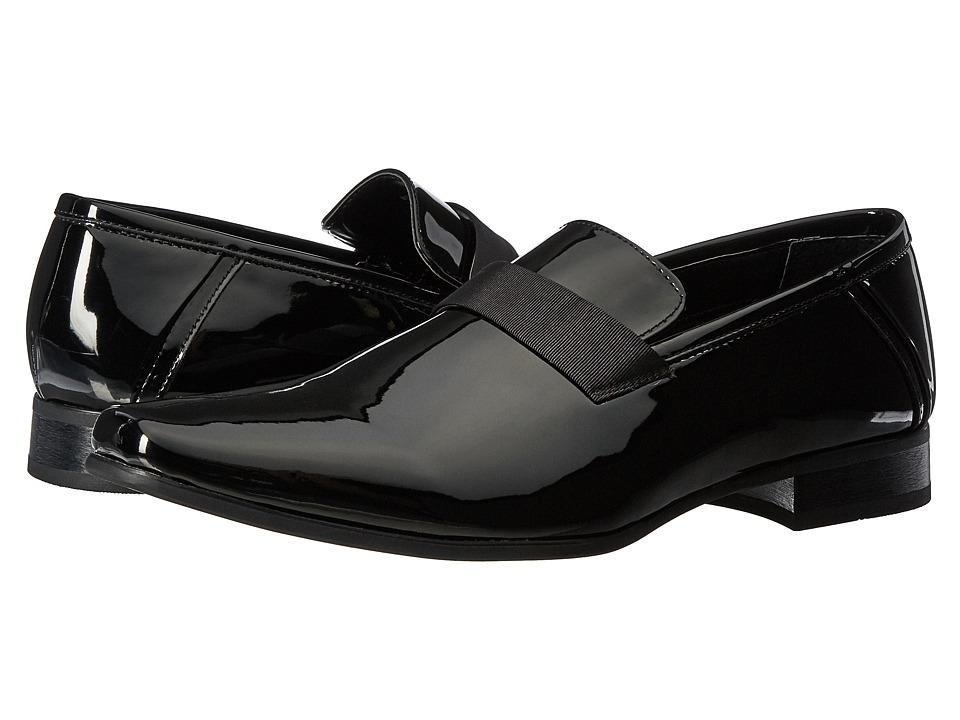 60s Mens Shoes | 70s Mens shoes – Platforms, Boots Calvin Klein - Bernard Black Patent Mens Shoes $110.00 AT vintagedancer.com